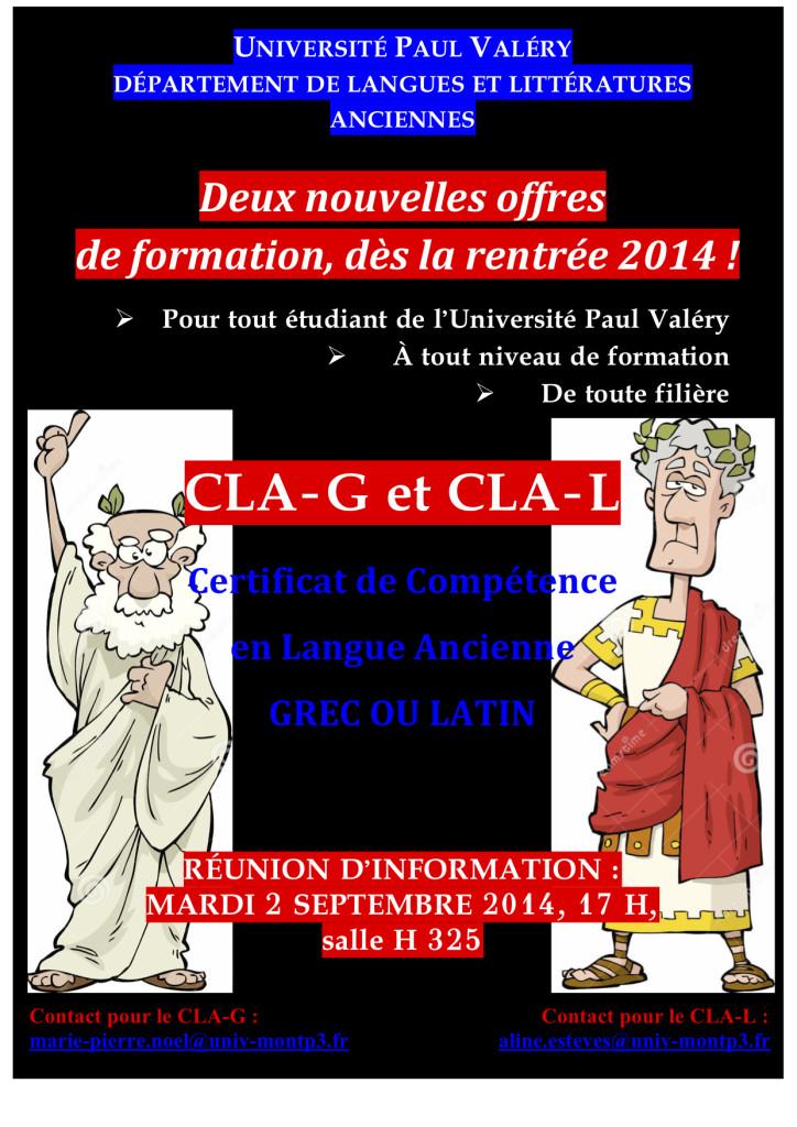 Affiche CLA(G et L)